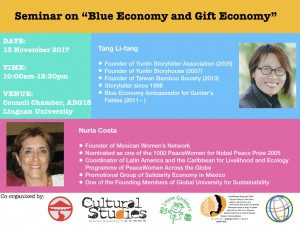 Blue Economy and Gift Economy Poster.